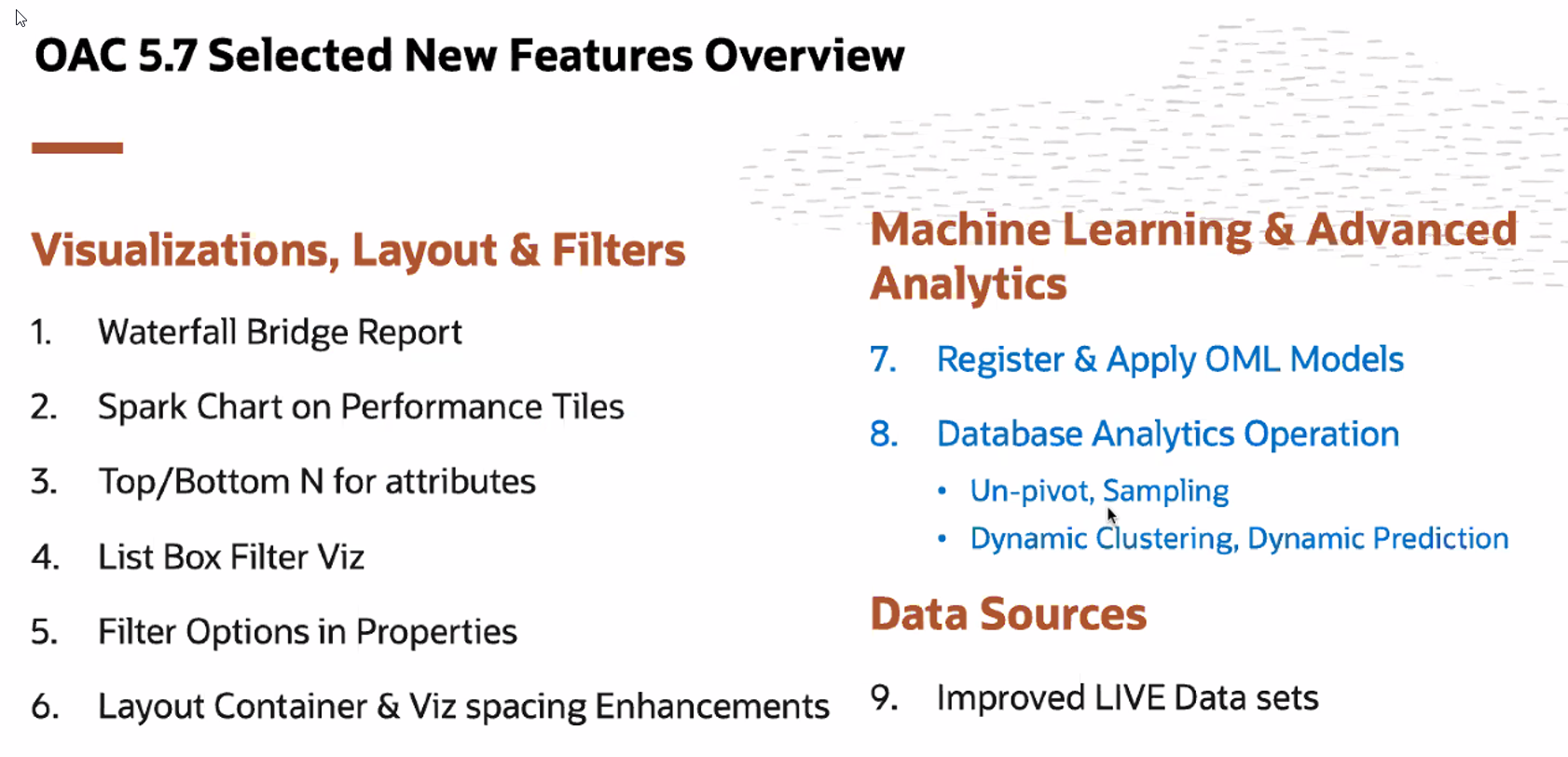 Webinar: What's New in Oracle Analytics 5.6 and 5.7 – August 5