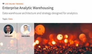 Vlamis Webinar – Enterprise Analytic Warehousing with O'Reilly on October 29, 2020 9:00am – 12:00pm CDT